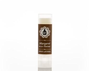Margaret 5ml Solid Perfume - rose otto, velvety vetiver & white tea...
