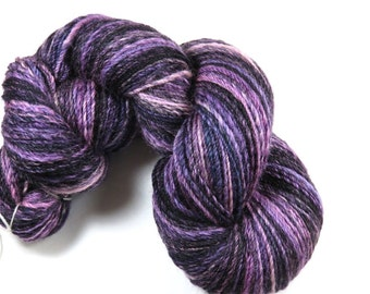 SALE 20 Percent Off -- Hand Dyed Hand Spun Sport Weight Sock Yarn -- Navajo Plied 3-Ply Superwash BFL -- Her Majesty (110 grams/312 yards)