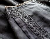 Victorian Black Skirt 26 Inch Waist