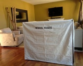 Dog Crate Cover, Canvas Crate Cover, Kennel Cover, Pet Crate Cover, Pet Name Personalization Extra
