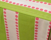 Designer Dog Crate Cover in ALL sizes - Choose from 100s of Premier Print Fabrics - Lulu Chartreuse Candy Pink shown - Dog Bed Duvet Covers