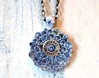 38 special  federal bullet necklace federal Bullet casing necklace cowgirl mixed metals