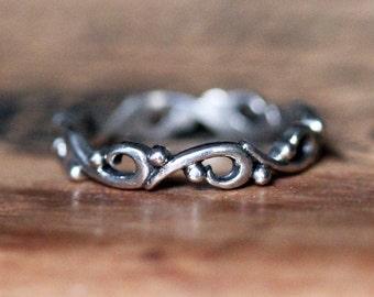 Ocean wave ring, unique wedding bands for women, silver rings handmade, silver wedding band, silver wedding ring, wave ring, custom ring
