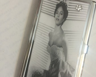 Dorothy Dandridge White Glamour Business Card Holder Credit Card Case