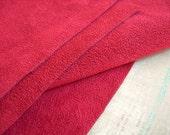 "Ultrasuede Scrap MEDIUM CHERRY RED Vintage Large Piece 9"" x 18"""