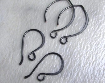Handmade Black Gunmetal Earwires - 20 gauge Artistic Wire - Classic Hooks and/or Almonds - Choose Style or Combo - MTO