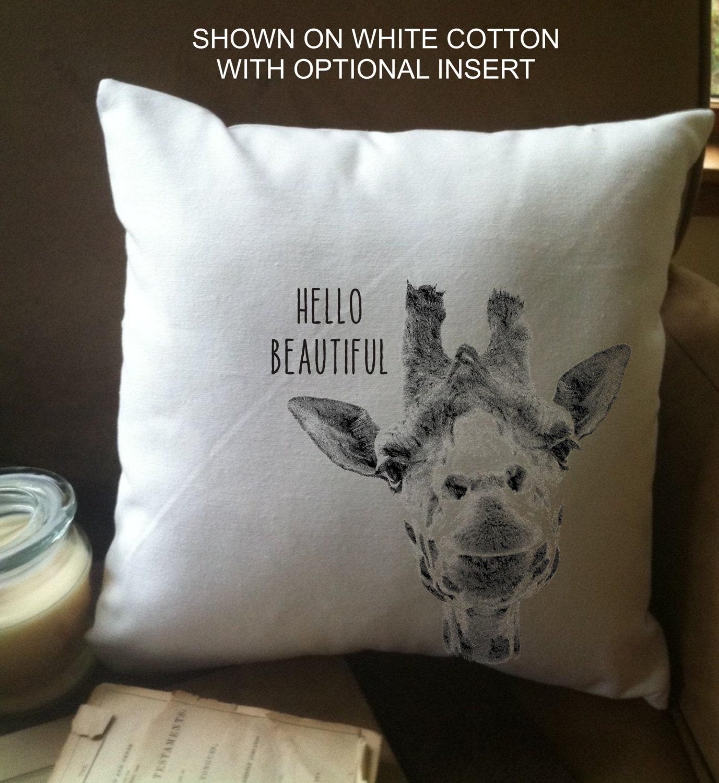 Funny Throw Pillow Covers : funny giraffe throw pillow cover custom throw pillow