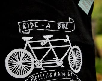 Tandem Bike Ride Bellingham Natural Grocery Tote Bag