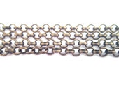 Brass 4mm link rolo chain, S078