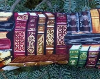 Books flat bottom bag, flat bottom pouch, knitting notions pouch, Classic Books, The Zini