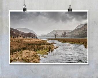 Buttermere Lake District - nature landscape mountains Cumbria 18x12 20x30 22x34 photograph art home decor photo big print poster display