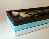 Stackable trays by Martha Stewart Office trays white, blue or brown jewelry tray dresser tray- NEW