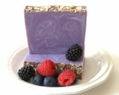 Wild Berry Scone Handmade Bar Soap, Vegan Soap,  Bakery Scented Soap, Fruit Soap, Colloidal Oatmeal Soap, Shower Soap, Gift Favor Soap