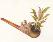 Rêves de pipe.   Original collage by Vivienne Strauss.