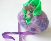 Easter Bunny and Easter Egg : Sweet Something in 'Polka' (Silk and Wool Surprise Easter Egg)