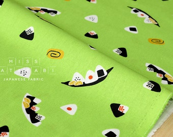 Japanese Fabric - onigiri canvas - green - 50cm
