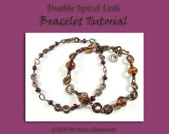Double Spiral Link Bracelet Tutorial