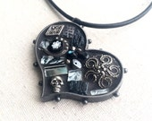 Midnight Magic Mosaic Heart Pendant