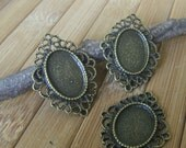 10x Filigree Oval Cameo Base 25x32 mm - Code 2217