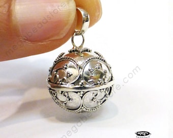 16mm Harmony Ball Bali Sterling Silver Bola Bell Chime Pendant P75