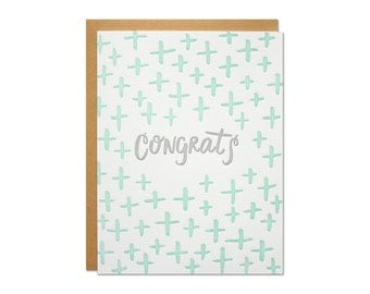 Congrats Letterpress Card