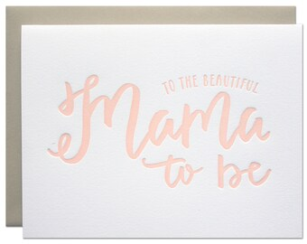 Mama to Be Letterpress Card