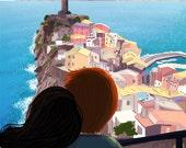 "Italy Wall Art, Italy Art, Monterosso, Italian Village - ""Cinque Terre"""