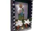 St Jude Altar//Mexican Nicho//Dia de los Muertos//Day of the Dead//Ofrenda Decoration//Mexican Decor//Catholic Prayer Card