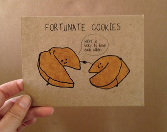 Fortunate Cookies Greeting Card