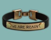 We Are Ready - Leather Dog Agility Affirmation Bracelet - Canine Agility Jewelry - MACH Gift