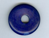 30mm Very Dark Blue Candy Jade PI Donut Pendant 1058