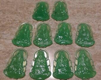 10 x KUAN YIN Goddess Plastic Pendants