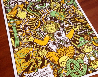 Gene Ween Aaron Freeman Boognish Golden Monkey Oktoberfest Silk Screen Rock Poster Gigposter