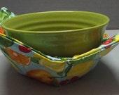 Microwave Bowl Cozy or Potholder Summer Fruit Fabric