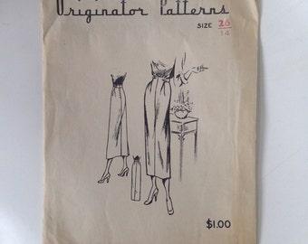 Vintage 40s Originator Sewing Pattern  Pencil Skirt 26 inch Waist 35 Hip Slim Skirt WW2 Era No 311 Unused Uncut