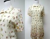 THE GARDEN RULES . 1990s sheer shirt dress . medium