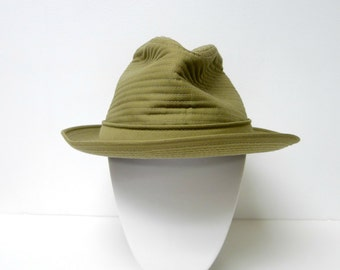 ADAM . quilted fedora hat . Size 7 - 7 1/8 . made in USA . new with TAG
