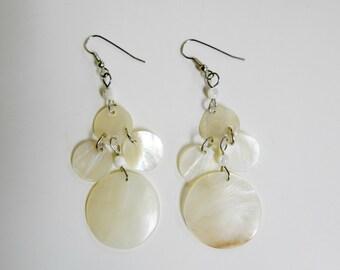 SALE!!! . AMBROSIA . Mother of pearl chandelier earrings