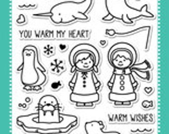 Avery Elle Clear Photopolymer Rubber Stamp Set - polar pals