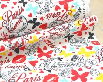 20% Off! Timeless Treasures FABRIC - Phrases and Words - Paris