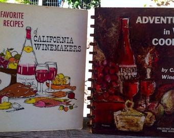 Vintage 1960's Adventures in Wine Cookery and Fav Recipes of Calif Wineries Foodie Chef Gift epsteam Sale