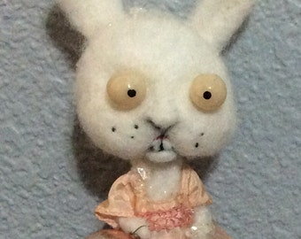 Snow Bunny ooak art doll