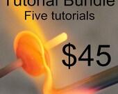SALE Naos Glass - Bundle Five Lampwork Tutorial Digital Download PDF Files - Handmade Lampwork Beads SRA