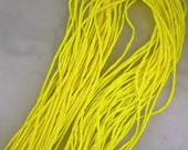 Neon Electric Yellow Hand Dyed 100% Silk Cords Strings for Kumihimo Braids, Necklaces, Bracelets