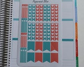 Aqua and Coral Weekly Spread Planner Stickers for Erin Condern Planner