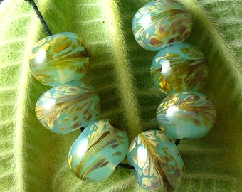 SRA Lampwork Glass Beads by Catalinaglass Seaspray