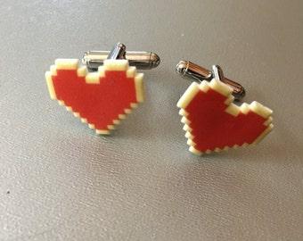 Geek Love -- Zelda Heart cufflinks