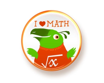 I love Math - button