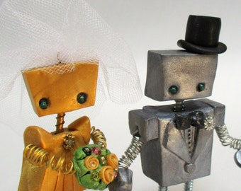 Robot Wedding Cake Topper