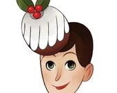 Christmas Hat Card: Christmas Cake